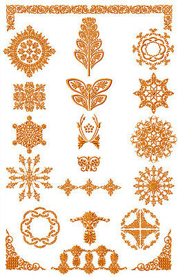 ABC DESIGNS Amber Ornaments  machine embroidery designs 5x7 hoop