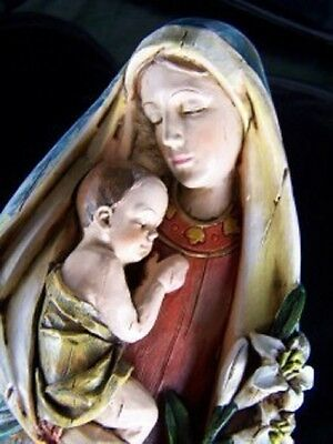 Mary Mother of Jesus w/ Baby Jesus Christ Statue Figure