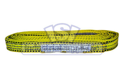 """2x 1/"""" x 2 ft Nylon POLYESTER Web Lifting Sling Tow Strap 2 Ply EE2-901 Two"""