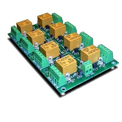 Eight Relay Board / Card for your AVR PIC Project: 24V