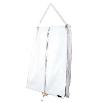 "Extra Large White Dress Carry Cover Wedding Gown Garment Zip Bag 72"" Hangerworld"