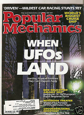 Popular Mechanics May 2001 UFOs - Voyager of the Seas - Driven - Chrysler 300 M