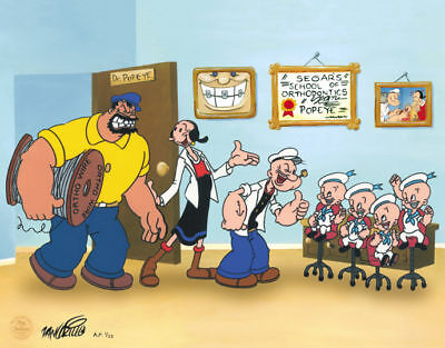 POPEYE orthodontic art LIMITED 100 EDITION King Features artist Rob Zangrillo