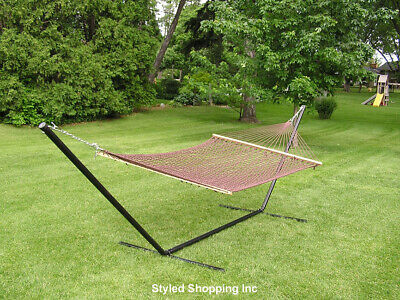 Extra Large Deluxe 2 Person Brown Cotton Rope Hammock