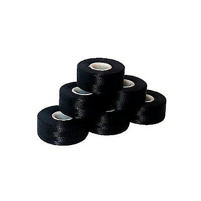 ThreaDelighT 144 SIDELESS Machine Embroidery Prewound Bobbins  BLACK Cored