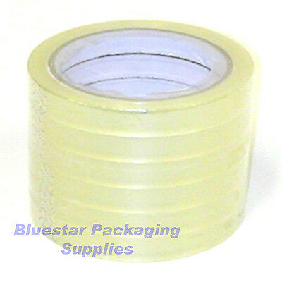 144 Rolls 12 x 66 Clear Sellotape Adhesive Tape Butcher Veg Food Bag Neck Sealer Packing Tapes & Straps Business, Office & Industrial Supplies