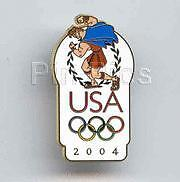 Disney USA Olympic Logo Hercules Pin