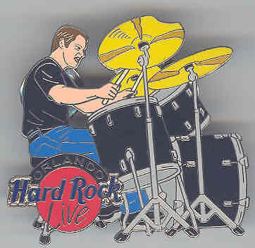 HRC Orlando Live Drummer Player Man Pin Hard Rock Cafe