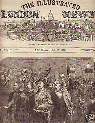 1870 Illustrated London News July 30 -Metz is Fortified