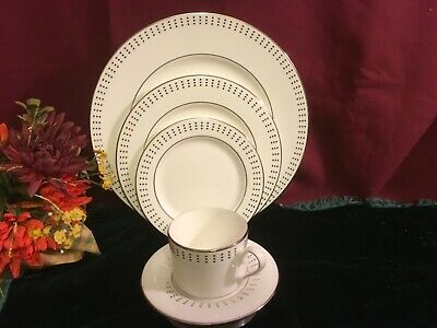 Lenox Herald Square Platinum 5 Piece Place Setting NEW USA