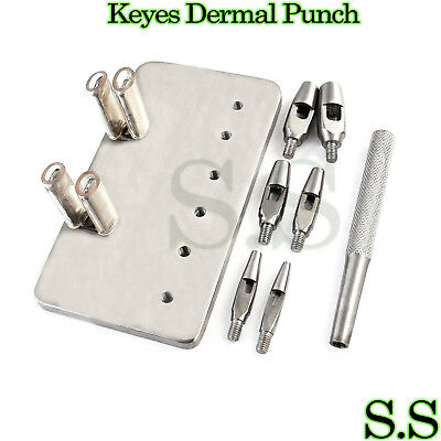 "KEYES Dermal Punch 4"" Set Dermatology Surgical Instruments"