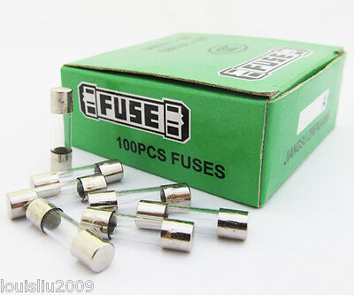 10 Pcs Glass Fuse, 5mm x 20mm 2A 250V Fast Blow