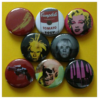 "ANDY WARHOL 1"" buttons pinback ART 70'S NEW YORK CITY"