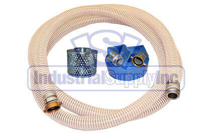 """2"""" Fexible Water Suction 50'ft Discharge Hose Pin Lug Kit"""
