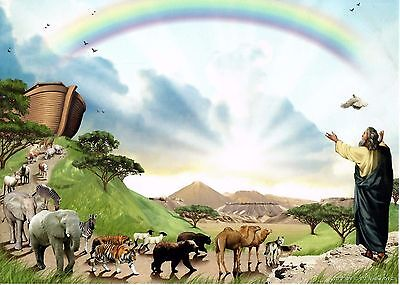 NOAH'S ARK Art Print Personalized Name Meaning Poem