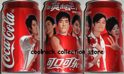 rare 2005 China coca cola POP STARS can 355ml airfilled