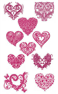 """ABC Designs 10 Valentine Hearts Machine Embroidery Designs for 5""""x7"""" hoop"""