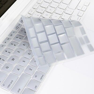 SILVER Silicone Keyboard Cover for Macbook White 13""