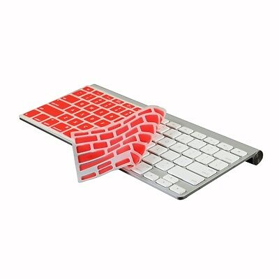 RED Silicone Cover Skin for APPLE Wireless Keyboard(Not for New Magic Keyboard)