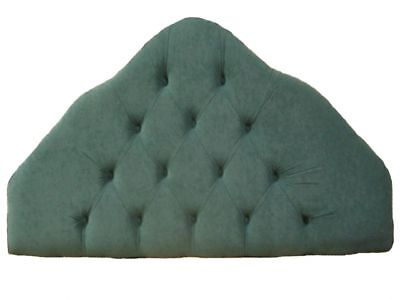 2ft6 Small Single Green upholstered Padded fabric Headboard - Bed Head end
