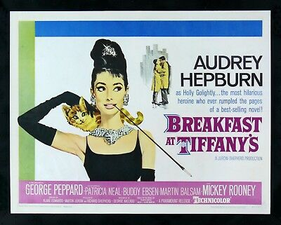 BREAKFAST AT TIFFANYS * CineMasterpieces AUDREY HEPBURN MOVIE POSTER 1961