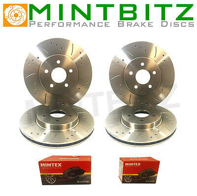 E90/E91/E92 320d Drilled & Grooved Front Rear Pads Brake Discs 05