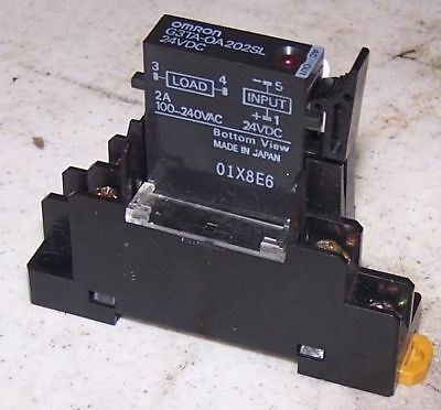 Omron Solid State Relay w/ Base, # G3TA-OA202SL WARRANTY