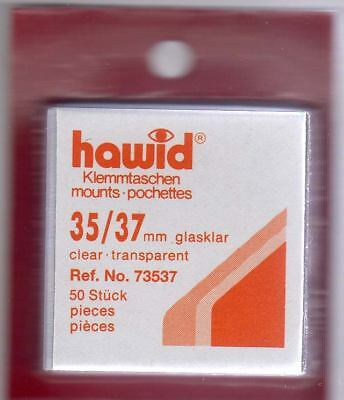 Hawid Stamp Mounts Clear 35x37mm