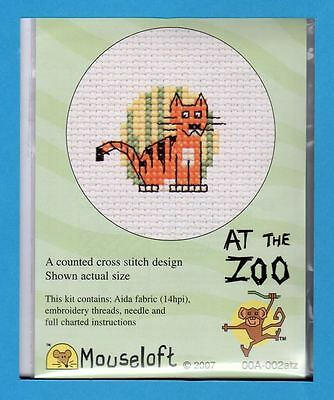 At The Zoo  X Stitch Kit by Mouseloft (Tiger)