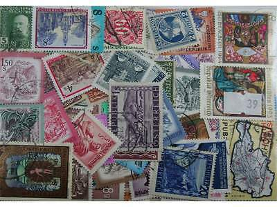 Austria. 300 stamps. All different. Mainly large (39)