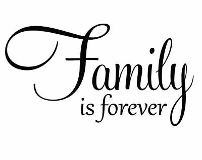 Family is Forever Vinyl Wall Quote Decal Lettering Home