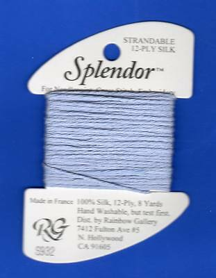 for NEEDLEPOINT-COLOR-S800-COOL White-This Listing is for 1 Card Rainbow GALLERY-SPLENDOR-12 PLY 100/% Silk-STRANDABLE