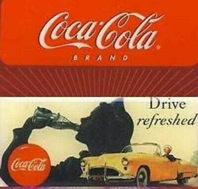 Drive Refreshed With Yellow Car Coca-Cola Magnet