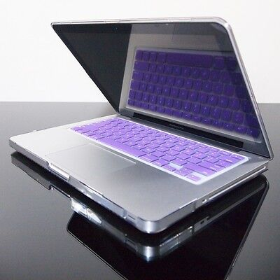 PURPLE Silicone Keyboard Cover for Macbook Pro 13 15 17
