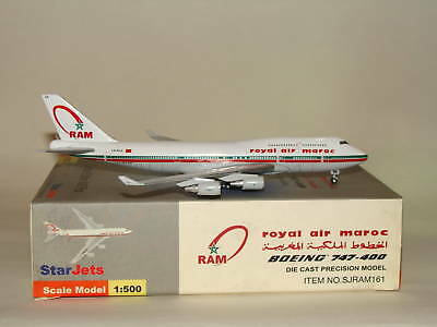 Starjets 500 Royal Air Maroc B747-400 Herpa 500 Scale
