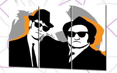 BLUES BROTHERS POPART 120x80cm 3 BILDER LEINWAND MOVIE