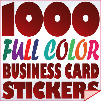 1000 Full Color Custom BUSINESS CARD STICKERS Label printing w/ UV-Gloss finish