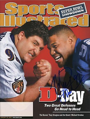 MICHAEL STRAHAN SIGNED Giants Sports Illustrated PROOF