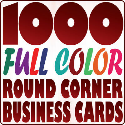 1000 Custom ROUND CORNER BUSINESS CARD Printing on 16pt Gloss or Matte Finish