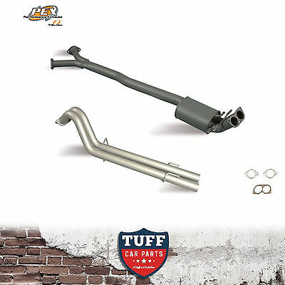 """VY VZ V8 Holden Crewman & One Tonner Pex Cat Back Exhaust Single 3"""" to Twin 2.5"""""""