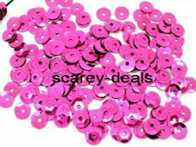 7mm PINK Sequins Paillette Sewing Dress Trimmings Embellishment  1st class post