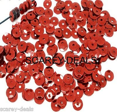 7mm  RED  Sequins Paillette Sewing DRESS Trimmings Embellishment 1st class post