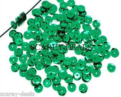 1000 x 7mm GREEN Sequins Paillette Sewing Trimmings Embellishment 1st class post