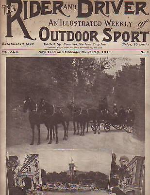1911 Rider and Driver March 25-Church horse sculptures