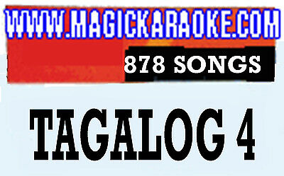 ENTERTECH MAGIC SING MIC LEADSINGER Tagalog4 CHIP NEW OVER 800 MIX TAGLISH SONGS