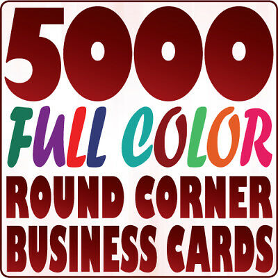5000 Round Corner BUSINESS CARD Printing Full Color on 16pt Gloss or Matte Stock