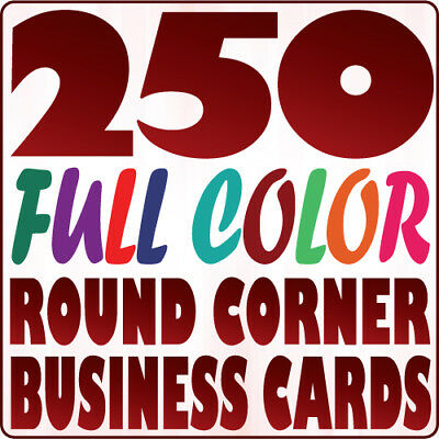 250 Custom 16pt ROUND CORNER BUSINESS CARD Printing | Gloss or Matte | Two Sides