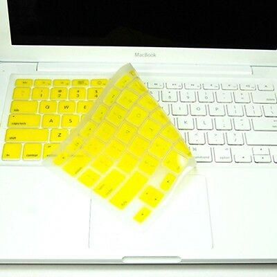 YELLOW Silicone Keyboard Cover Skin for NEW Macbook 13