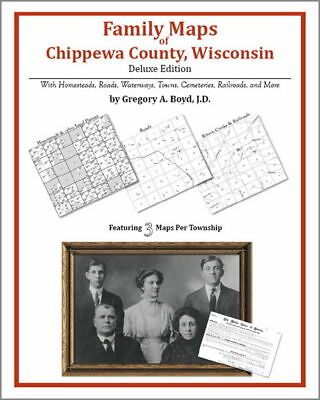 Family Maps Chippewa County Wisconsin Genealogy WI Plat