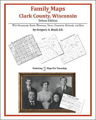 Family Maps Clark County Wisconsin Genealogy WI Plat